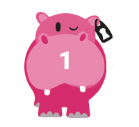 pink hippo 1