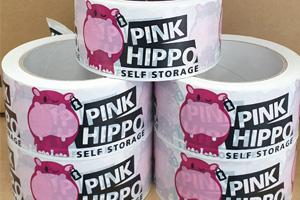 Pink Hippo Self Storage Tape