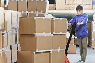Man Working in Commercial Storage Unit