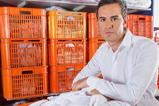Man In Office Furniture Storage Unit